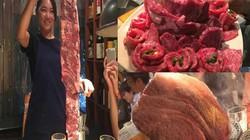 Thịt bò khổng lồ, mỗi lần gọi phải bằng tính ký tại nhà hàng Nhật này