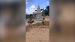 Video: Chùa Phật giáo chìm dần xuống sông ở Campuchia