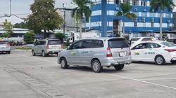 Hàng loạt tài xế taxi sân bay Đà Nẵng đình công để phản đối xe Grab