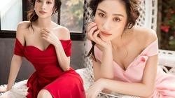 """""""Cô bé trà sữa Việt"""" đẹp mong manh với váy trễ vai"""