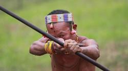 Bộ lạc nguyên thủy Indonesia hằng ngày đi săn bằng giáo, cung tên