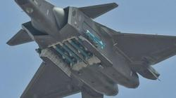 """Siêu tiêm kích Trung Quốc J-20 lần đầu """"mở bụng"""" khoe bảo bối"""