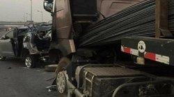 Vụ xe container đâm xe Innova lùi trên cao tốc: Diễn biến nóng