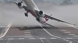 Căng thẳng phút giây máy bay hạ cánh giữa bão lớn