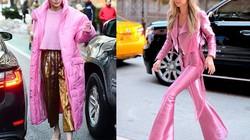 Học cách chinh phục màu hồng đẹp mà không sến của Gigi Hadid