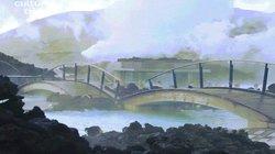 """Khám phá """"hồ bơi núi lửa"""" hình thành tự nhiên từ dung nham"""