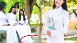 Hoa hậu Tiểu Vy mặc áo dài, đi giày thể thao: Tiện hay thiếu thẩm mỹ?