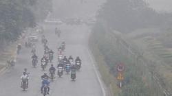 Ảnh: Hà Nội ô nhiễm không khí đạt mức có hại, trưa vẫn còn sương mù