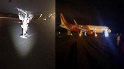 Vụ máy bay Vietjet hạ cánh gặp sự cố: Tìm thấy 1 chiếc lốp rơi ở sân bay