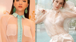 Kiểu áo gây tò mò của Hương Giang, Phương Trinh