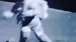 Những pha té ngã sấp mặt của phi hành gia trên Mặt Trăng