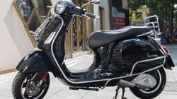 Cận cảnh Vespa GTS Super màu đen bóng, giá 93,9 triệu đồng