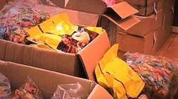 Hà Nội: Thu giữ hơn 2 tấn bánh kẹo nhập lậu đang trên đường đi tiêu thụ