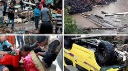Ảnh sốc lạnh người về thảm họa sóng thần chết chóc ở Indonesia