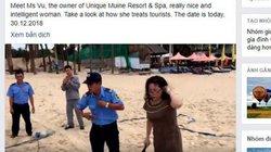 Diễn biến mới vụ chặt lưới bóng chuyền của khách Tây trên bãi biển