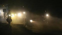 Hình ảnh Hà Nội đêm tối vẫn rõ khói bụi mù mịt