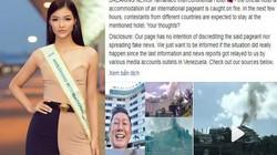 Khách sạn á hậu Kiều Loan và thí sinh HH Hòa bình Quốc tế lưu trú bị loan tin bốc cháy