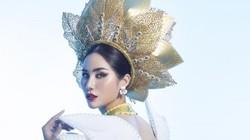 Hoàng Hạnh mang hồ sen, bức tranh Tây Bắc lên áo dài thi Miss Earth