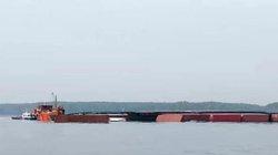 150 tấn dầu chìm cùng tàu container ở Cần Giờ