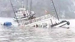 Chìm tàu du lịch vịnh Hạ Long sau va chạm với tàu vận tải