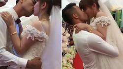 Quan viên hai họ đỏ mặt trước màn khóa môi nóng bỏng của cô dâu chú rể