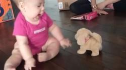 Không nhịn được cười trước phản ứng kỳ lạ của trẻ khi nhận đồ chơi mới