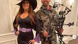 Con trai ông Trump cùng bạn gái nhiều hơn 9 tuổi xuất hiện trong trang phục lạ