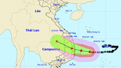 Tin mới nhất về bão số 6 Nakri đang hướng vào đất liền Quảng Ngãi - Khánh Hoà