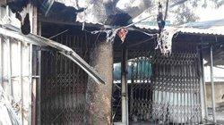 Hỏa hoạn thiêu rụi 4 ki-ốt chợ, bé 8 tuổi tử vong