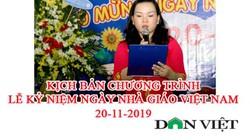 Kịch bản chương trình lễ kỷ niệm ngày Nhà giáo Việt Nam 20/11/2019