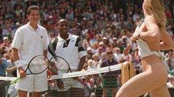"""Nữ sinh cởi sạch 100%, 2 tay vợt nam đánh chung kết Wimbledon... """"đứng hình"""""""
