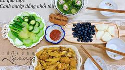 Mê tít mâm cơm đã ngon lại đẹp của mẹ đảm Hà thành, kéo cả chồng lẫn hai con trai vào bếp