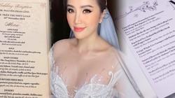 Đám cưới Bảo Thy gây choáng với thực đơn toàn sơn hào hải vị
