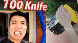 Vừa gây sốc thả 100 con dao, Youtuber quê Thái Bình lại gây phẫn nộ vì điều này