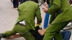 Đại uý công an bị thanh niên 9X ném kéo vào người bị thương