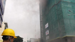 Cháy lớn tại công trình cao ốc khách sạn, nhiều người tháo chạy