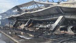 Ảnh tan hoang sau vụ cháy cực lớn tại Công ty may Nhà Bè ở Sóc Trăng