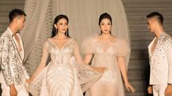 Đặng Thu Thảo, Kim Nguyên diện váy dàihơn30m trình diễn thời trang