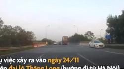 Video: Rùng mình cảnh ô tô phóng ngược chiều trên đại lộ Thăng Long