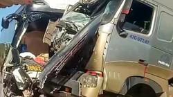 Xe container lấn làn tông trực diện ôtô khách, 1 người chết tại chỗ