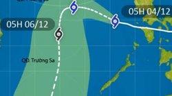 Bão Kammuri liên tục đổi hướng, di chuyển chậm trên Biển Đông