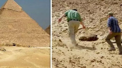 Gió lớn để lộ xác ướp 2.000 năm tuổi dưới cát khiến các nhà khảo cổ bất ngờ