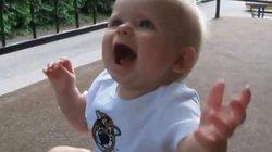 Phản ứng đáng yêu không thể bỏ qua của các bé khi bố đi làm về