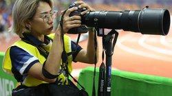 Chùm ảnh: Những nữ phóng viên xinh đẹp tác nghiệp tại SEA Games 30