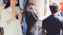 Bà xã Cường Đô La mặc áo rộng che chắn vòng hai giữa tin đồn bầu bí