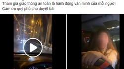 CA Hà Nội tiếp nhận thông tin vụ nữ tài xế hò hét, thách thức