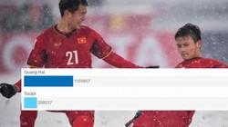 """""""Cầu vồng trong tuyết"""" của Quang Hải trở thành biểu tượng châu Á"""