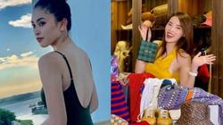 """Trần Tiểu Vy mặc bikini """"đốt mắt"""", Kỳ Duyên khoe đồ hiệu tưng bừng đón Noel 2019"""