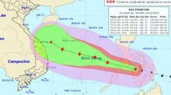 Bão Phanfone tăng cấp, gió giật cấp 14 áp sát Biển Đông