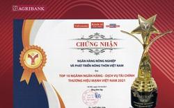 Agribank – TOP10 Thương hiệu Mạnh Việt Nam lĩnh vực Tài chính, Ngân hàng năm 2021